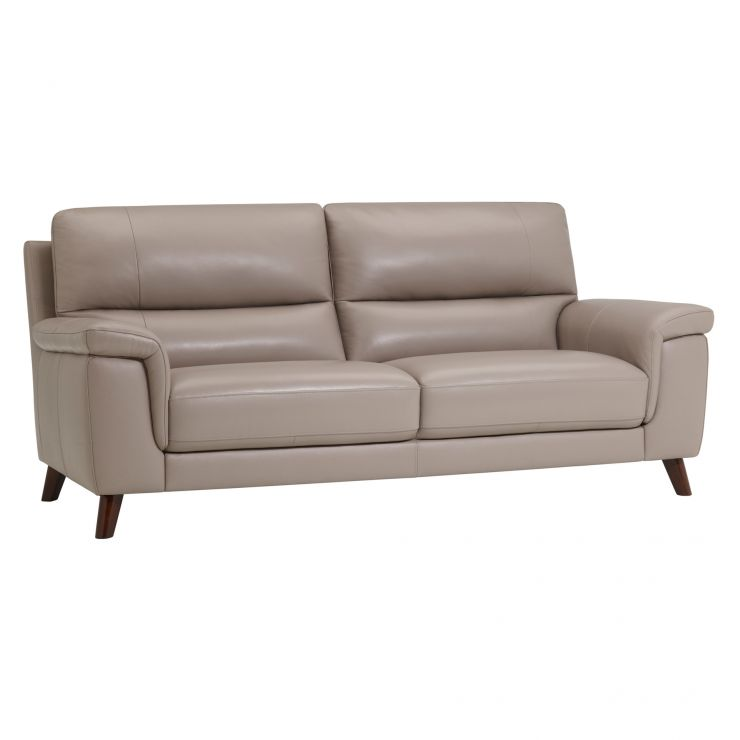 Inspire Grey Leather 3 Seater Sofa