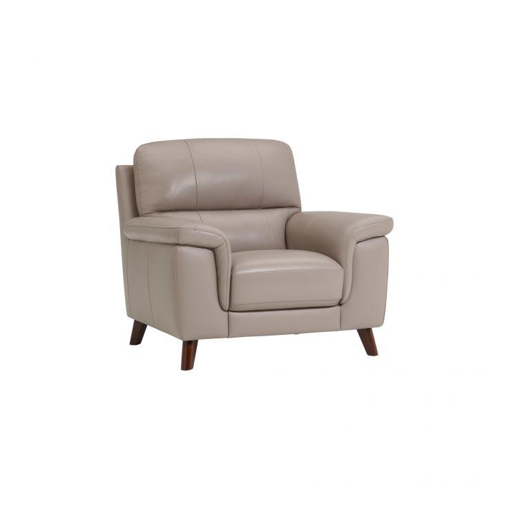 Inspire Grey Leather Armchair