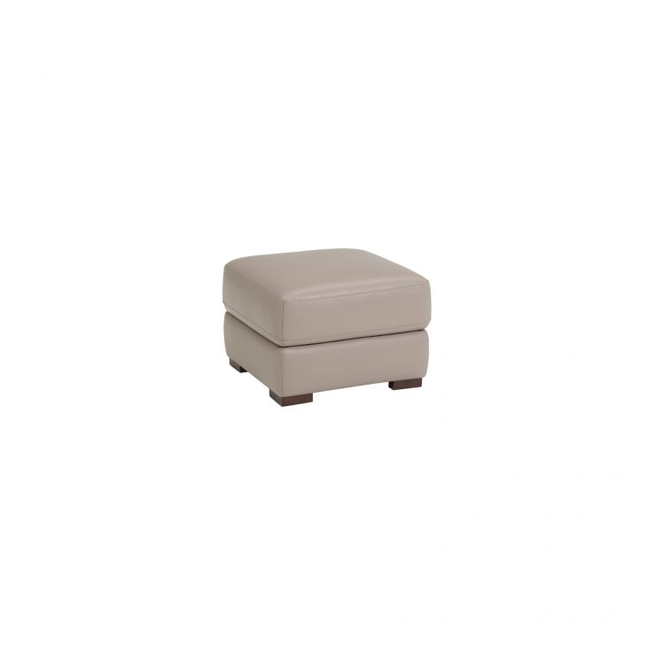 Inspire Grey Leather Storage Footstool