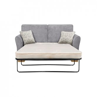 Jasmine 2 Seater Sofa Bed with Deluxe Mattress in Cosmo Pewter with Bamboo Slate Scatters