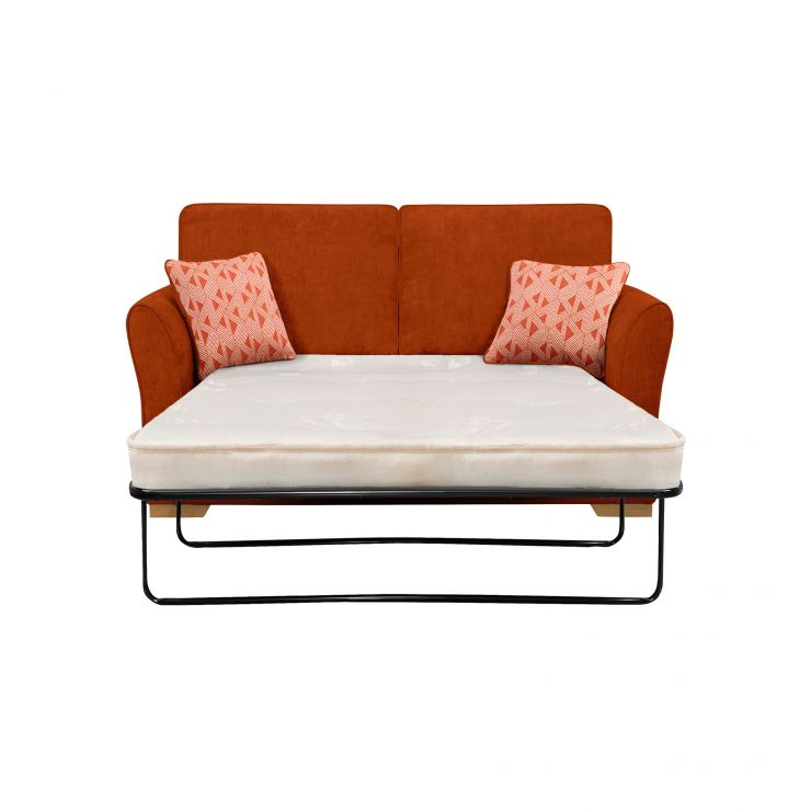 Jasmine 2 Seater Sofa Bed with Deluxe Mattress in Cosmo Spice with Bamboo Spice Scatters - Image 2