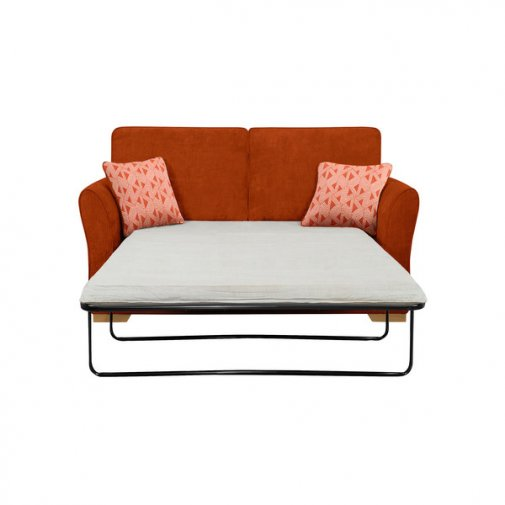 Jasmine 2 Seater Sofa Bed with Standard Mattress in Cosmo Spice with Bamboo Spice Scatters
