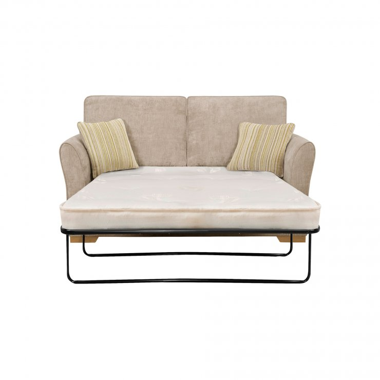 Jasmine 2 Seater Sofa Bed with Standard Mattress in Linen with Salsa Summer Scatters