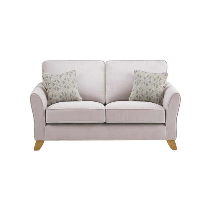 Jasmine 2 Seater Sofa in Cosmo Fabric - Silver with Bamboo Slate Scatters - Image 2