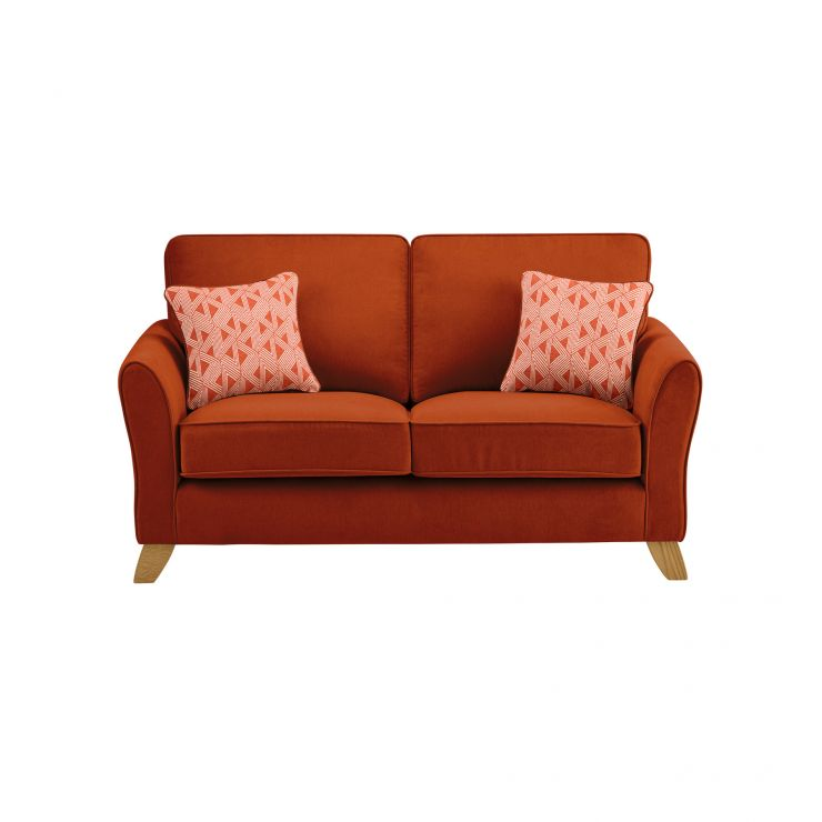 Jasmine 2 Seater Sofa in Cosmo Fabric - Spice with Bamboo Spice Scatters - Image 2