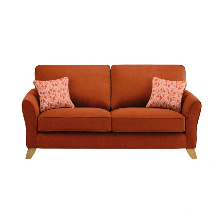 Jasmine 3 Seater Sofa in Cosmo Fabric - Spice with Bamboo Spice Scatters - Image 2