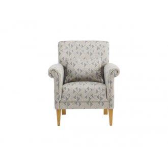 Jasmine Accent Chair - Bamboo Slate Fabric