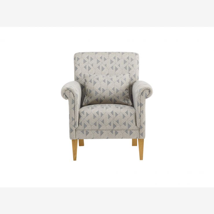 Jasmine Accent Chair - Bamboo Slate Fabric - Image 1