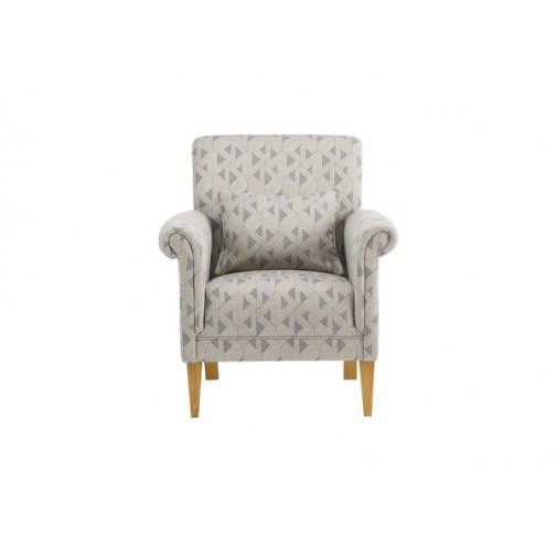 Jasmine Accent Chair - Bamboo Slate Fabric