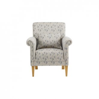 Jasmine Accent Chair in Bamboo Slate Fabric
