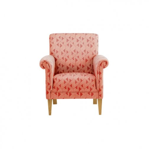 Jasmine Accent Chair in Spice with Bamboo Spice