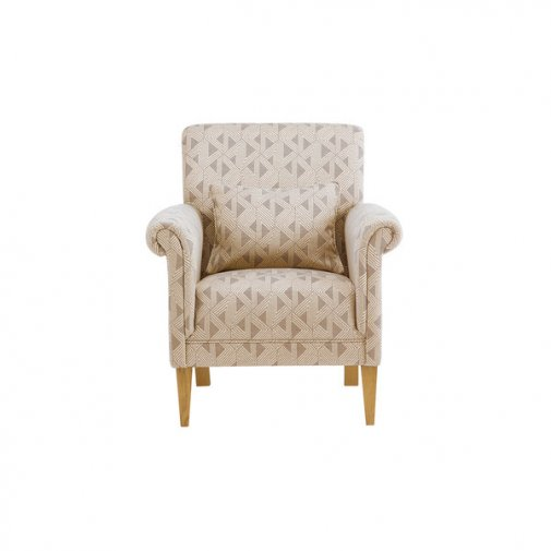 Jasmine Accent Chair in Bamboo Taupe Fabric