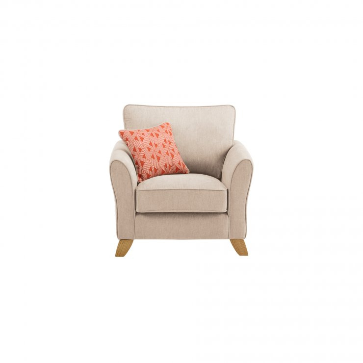 Jasmine Armchair in Cosmo Fabric - Linen with Bamboo Spice Scatters
