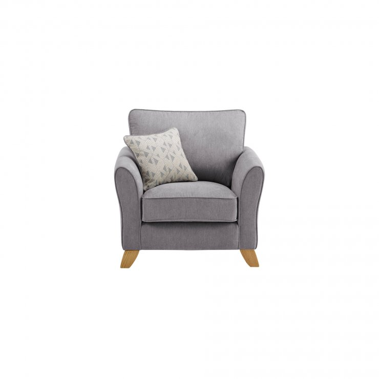 Jasmine Armchair in Cosmo Fabric - Pewter with Bamboo Slate Scatters