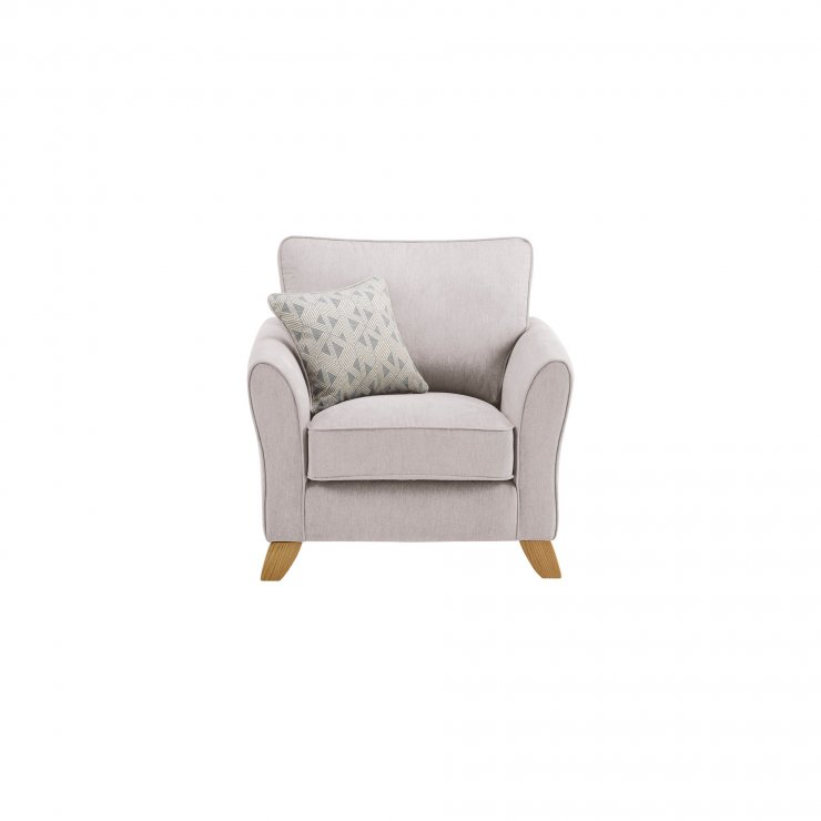 Jasmine Armchair in Cosmo Fabric - Silver with Bamboo Slate Scatters - Image 2
