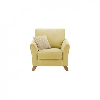Jasmine Armchair in Grace Fabric - Lime with Summer Scatter