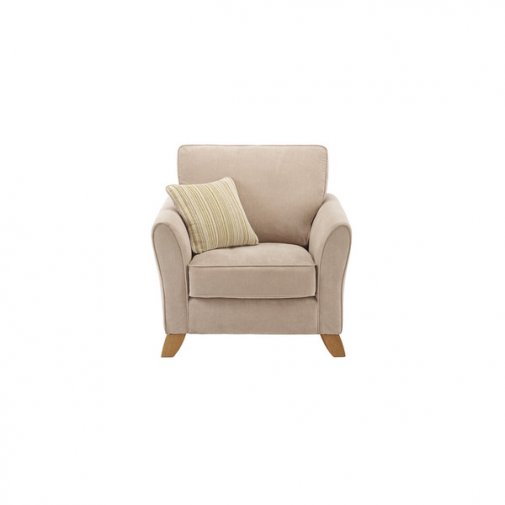 Jasmine Armchair in Grace Fabric - Linen with Summer Scatter