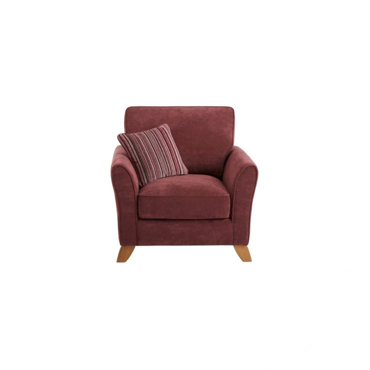 Jasmine Armchair in Grace Fabric - Plum with Raspberry Scatters - Image 1