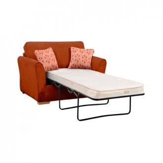 Jasmine Armchair Sofa Bed with Deluxe Mattress in Cosmo Spice with Bamboo Spice Scatters