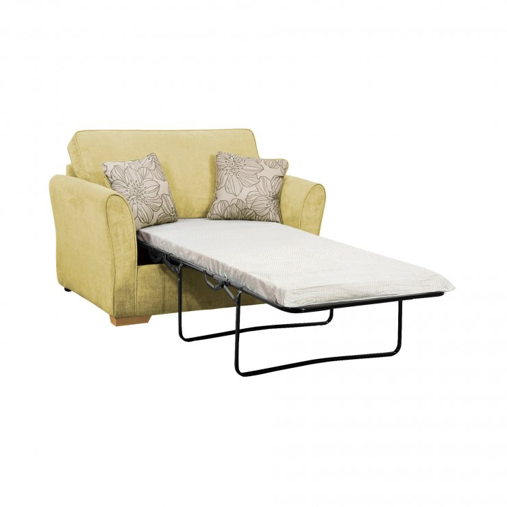 Jasmine Armchair Sofa Bed with Standard Mattress in Lime with Salsa Summer Scatters - Image 2