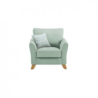 Jasmine Armchair in Cosmo Fabric - Duck Egg with Bamboo Aqua Scatters