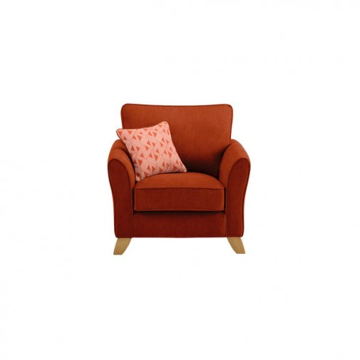Jasmine Armchair in Cosmo Fabric - Spice with Bamboo Spice Scatters