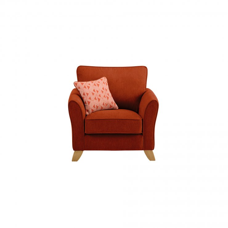 Jasmine Armchair in Cosmo Fabric - Spice with Bamboo Spice Scatters - Image 2