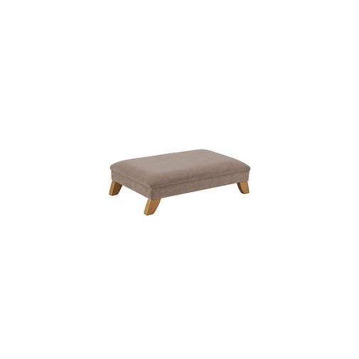 Jasmine Footstool - Grey with Rustic Oak Feet