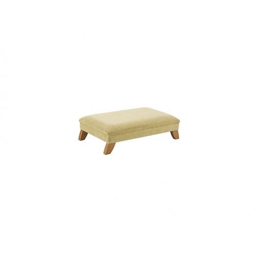 Jasmine Footstool - Lime with Rustic Oak Feet