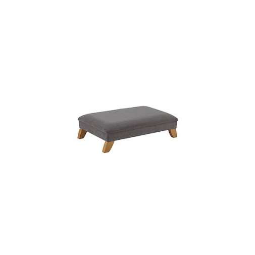 Jasmine Footstool - Pewter with Rustic Oak Feet