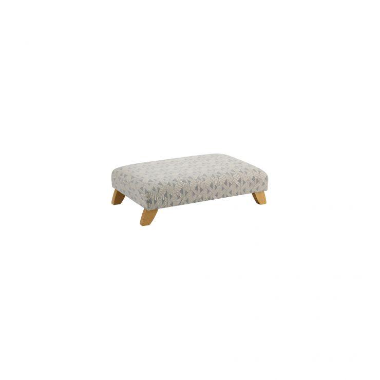 Jasmine Footstool in Bamboo Slate Fabric - Image 1