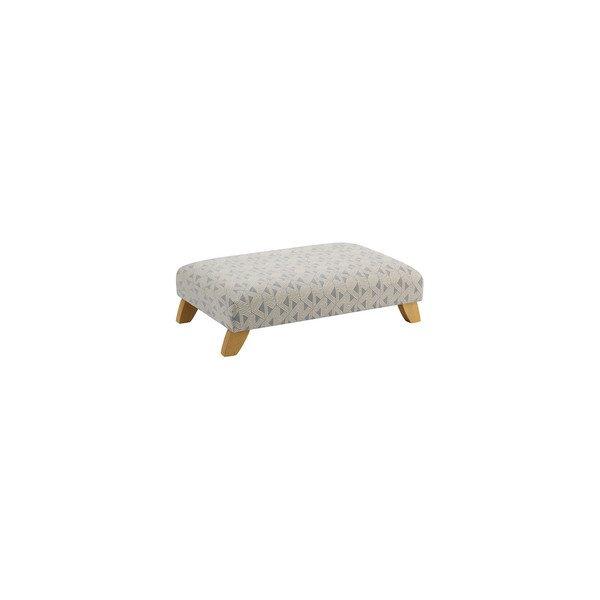 Jasmine Footstool in Bamboo Slate Fabric