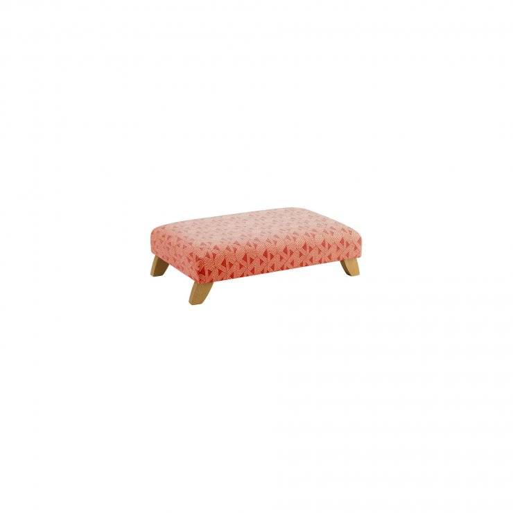 Jasmine Footstool in Linen and Bamboo Spice Fabric - Image 1