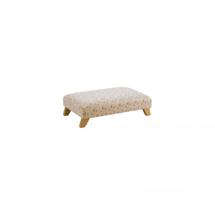 Jasmine Footstool in Bamboo Taupe Fabric - Image 1