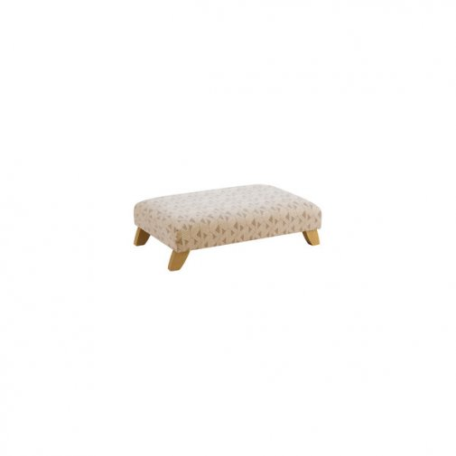 Jasmine Footstool in Bamboo Taupe Fabric