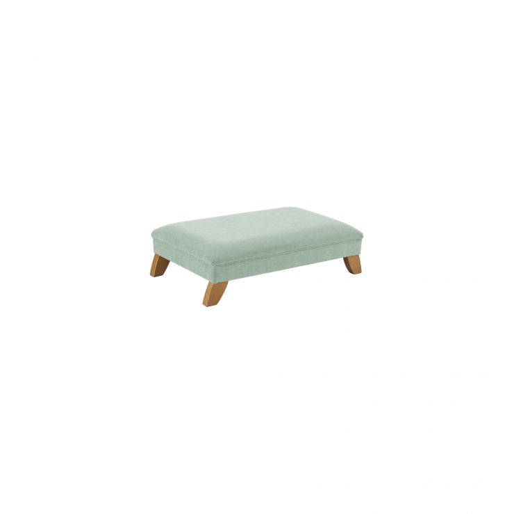 Jasmine Footstool in Cosmo Duck Egg Fabric