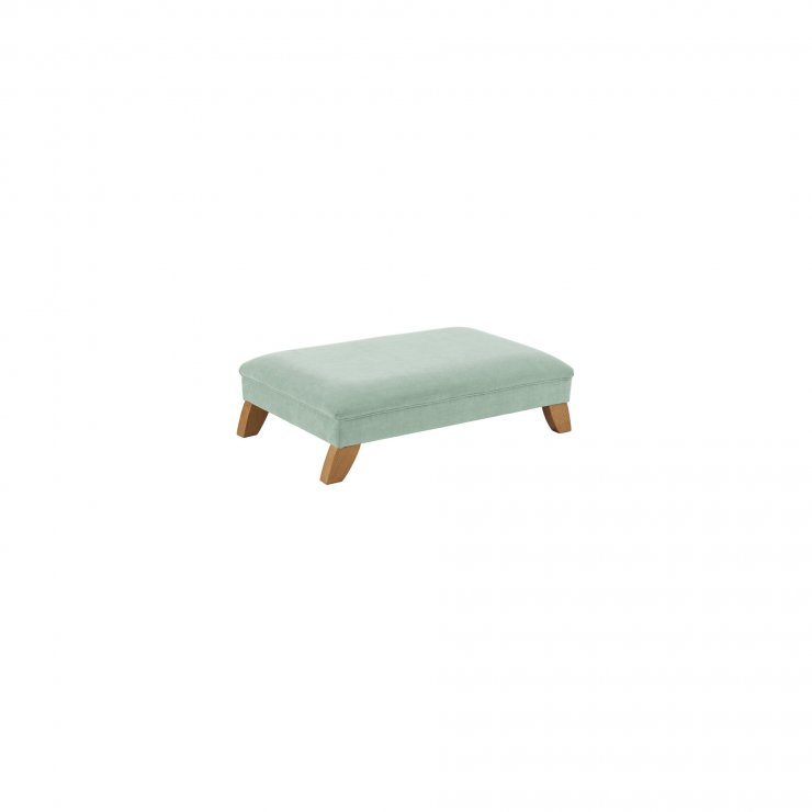 Jasmine Footstool in Cosmo Duck Egg Fabric - Image 1