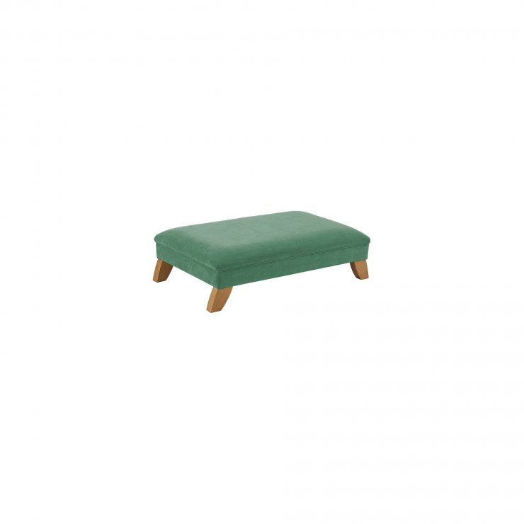 Jasmine Footstool in Cosmo Jade Fabric