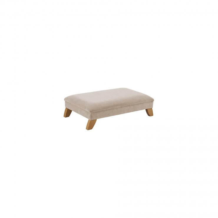 Jasmine Footstool in Cosmo Silver Fabric