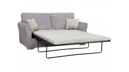 Jasmine 3 Seater Sofa Bed with Standard Mattress in Cosmo Pewter with Bamboo Slate Scatters image