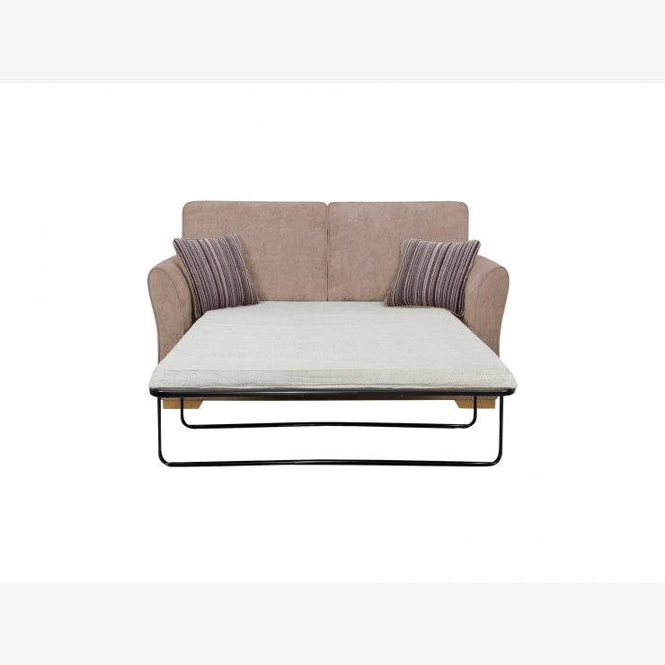 Jasmine 2 Seater Sofa Bed with Standard Mattress in Taupe with Salsa Taupe Scatters