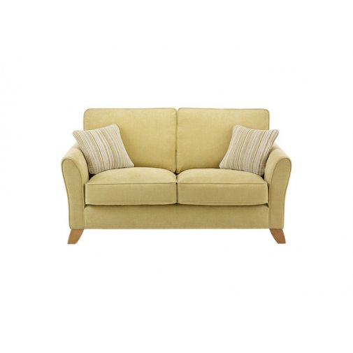 Jasmine 2 Seater Sofa in Grace Fabric - Lime with Summer Scatters