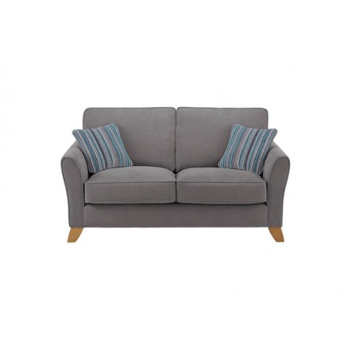 Jasmine 2 Seater Sofa in Grace Fabric - Pewter with Ocean Scatters