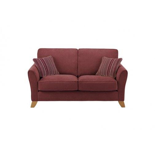 Jasmine 2 Seater Sofa in Grace Fabric - Plum with Raspberry Scatters