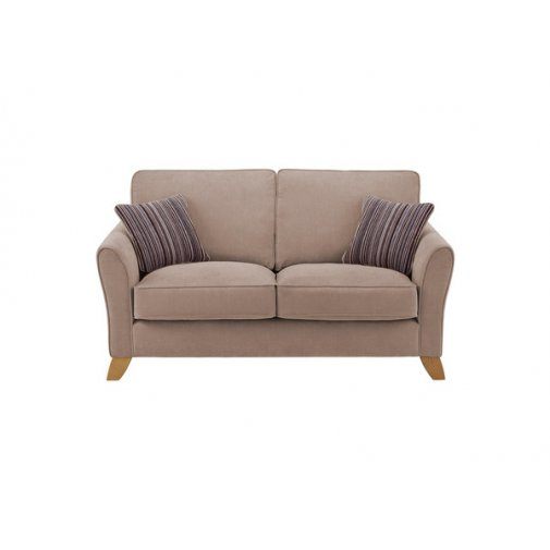 Jasmine 2 Seater Sofa in Grace Fabric - Taupe with Taupe Scatters
