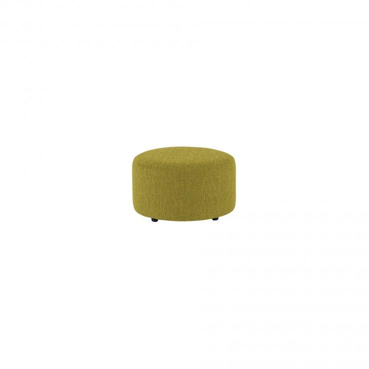 Jasmine Round Footstool in Cosmo Apple - Image 1