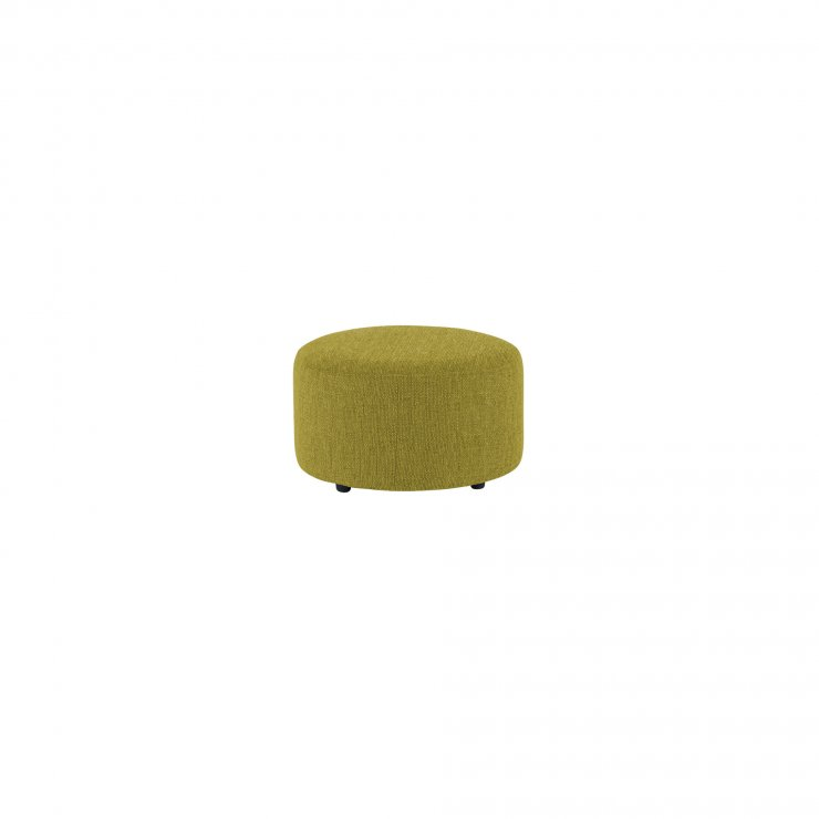 Jasmine Round Footstool in Cosmo Apple