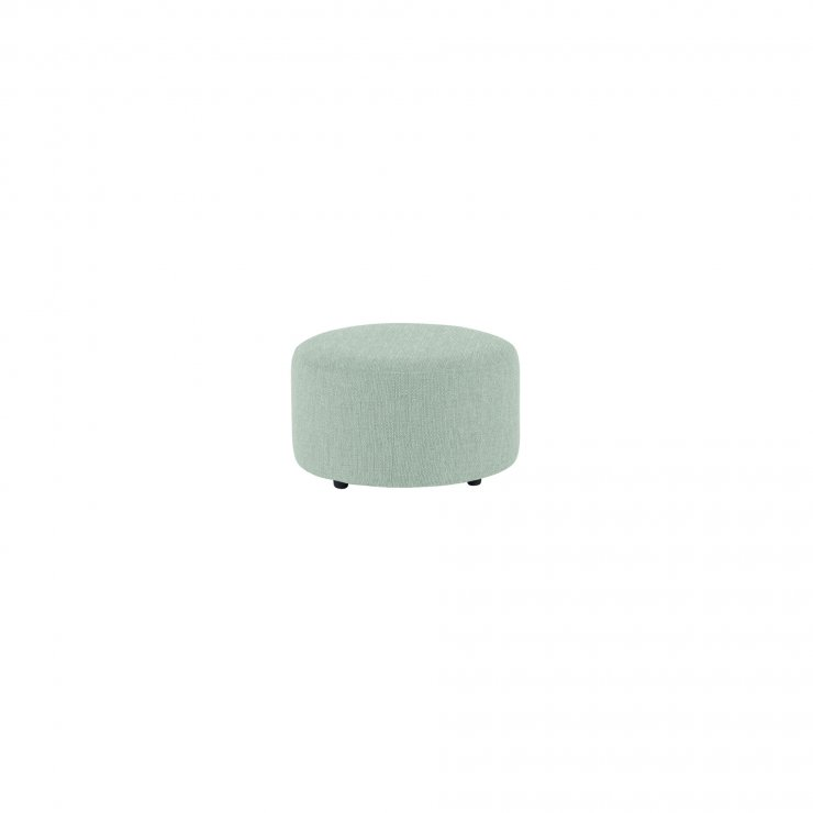 Jasmine Round Footstool in Cosmo Duck Egg