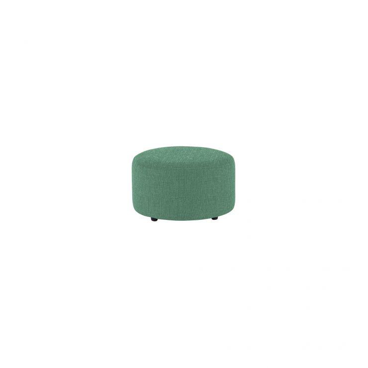 Jasmine Round Footstool in Cosmo Jade - Image 1