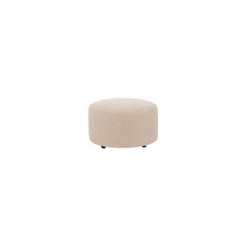 Jasmine Round Footstool in Cosmo Linen
